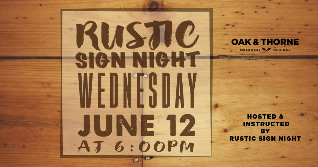 Rustic Sign Night