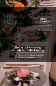 Contact us to organize your holiday entertaining catering and events.