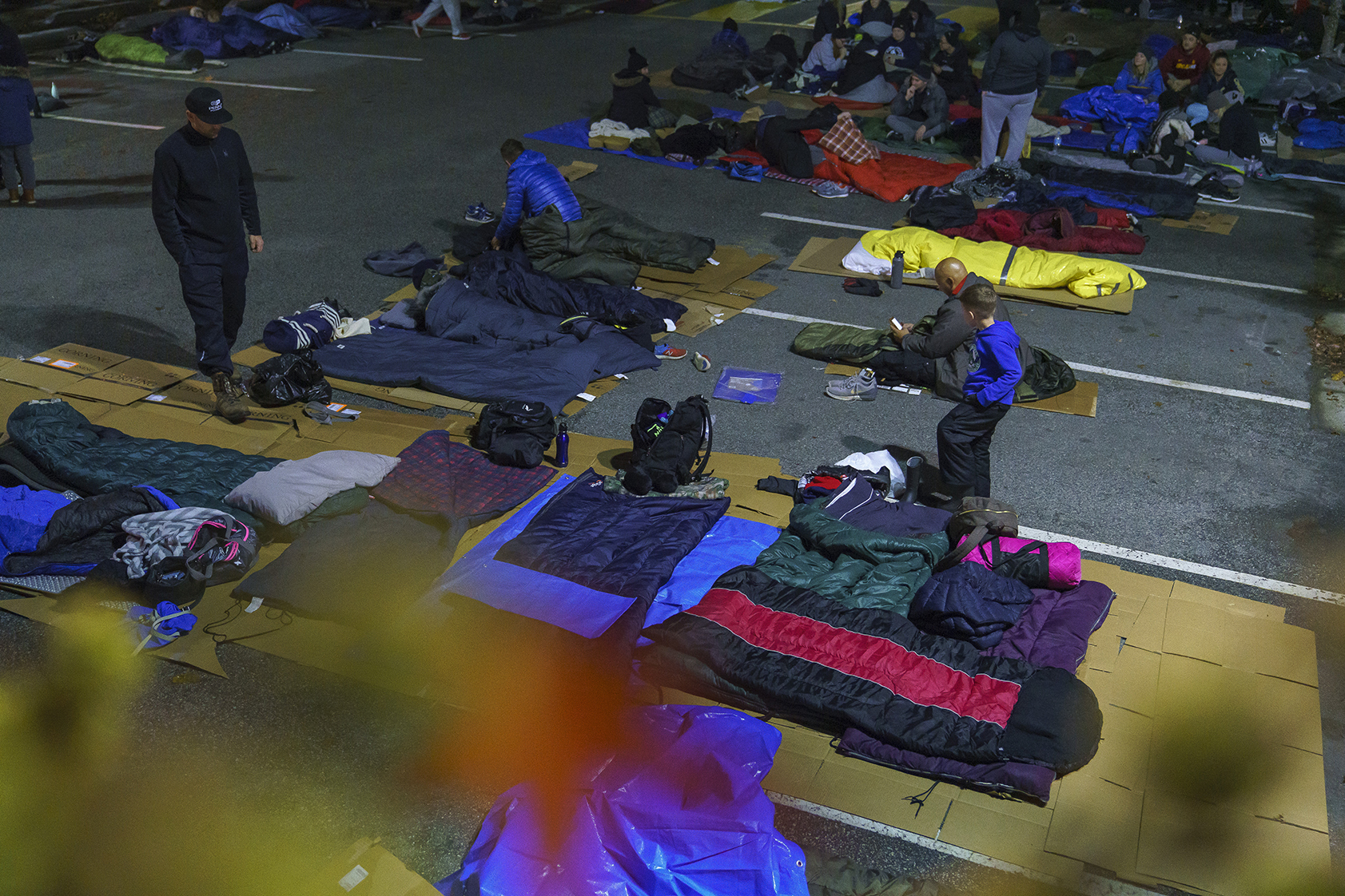 The JRG team sleeps outside for one night in support