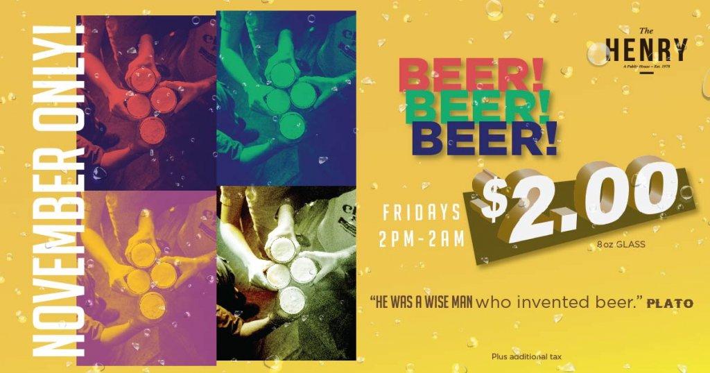 $2.00 beer special