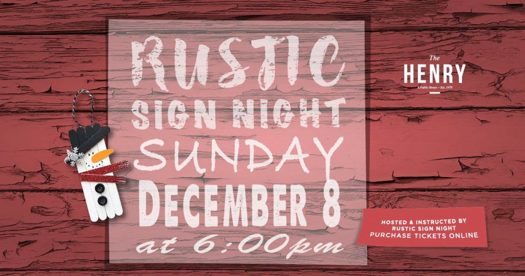 Rustic Sign Night event in Surrey