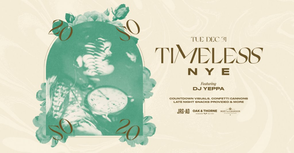 Timeless NYE at Oak & Thorne