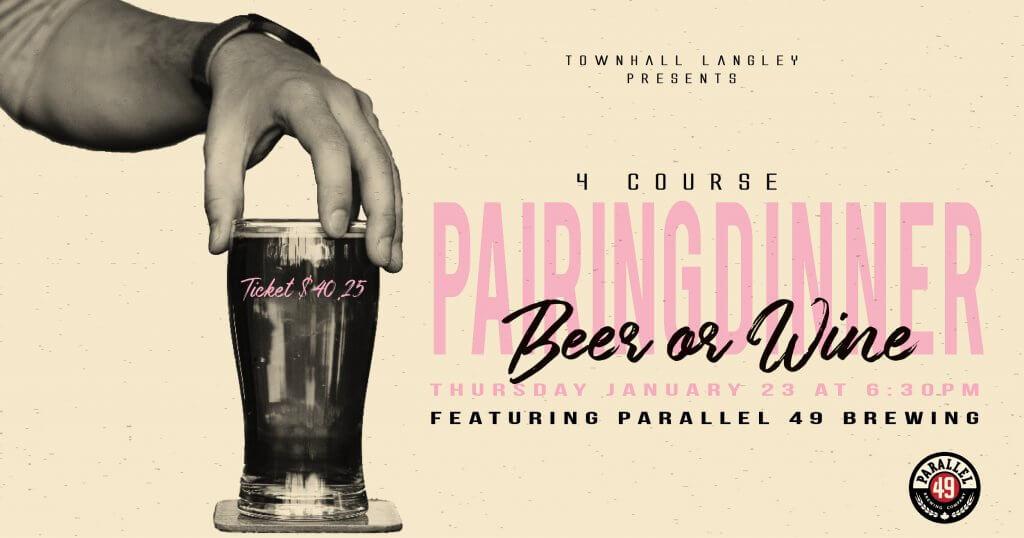 Parallel 49 Brewing Pairing Dinner