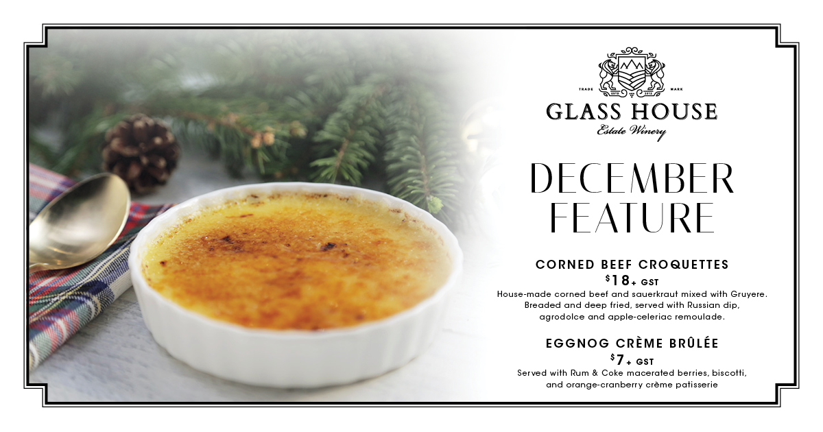 December Feature at Glass House Estate Winery