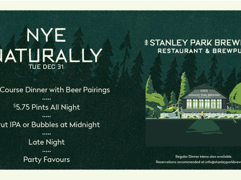 NYE Naturally at Stanley Park Brewing