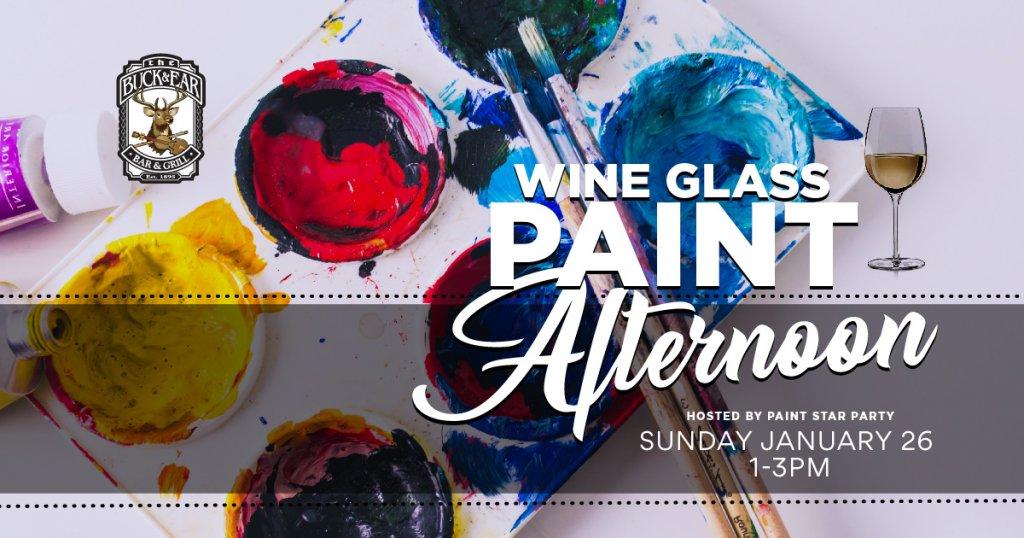 No Crabby Days Wine Glass Painting