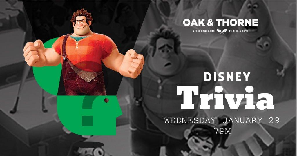 Disney Trivia Oak & Thorne