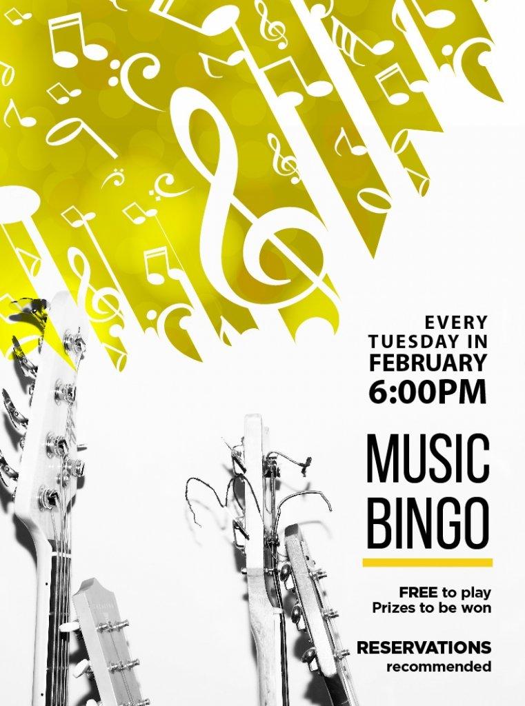 February Music Bingo at The Study