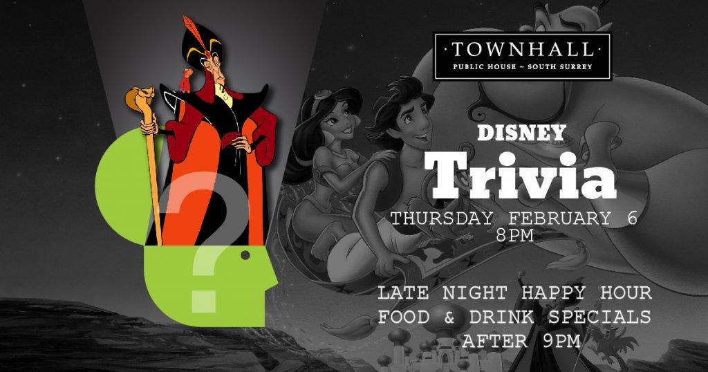 Disney Trivia Surrey