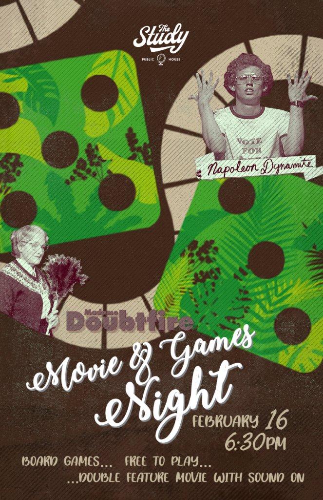 Movie & Games Night The Study