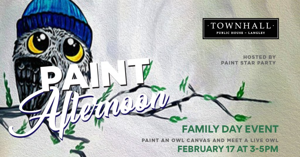 Family Day Owl Canvas: Paint Afternoon