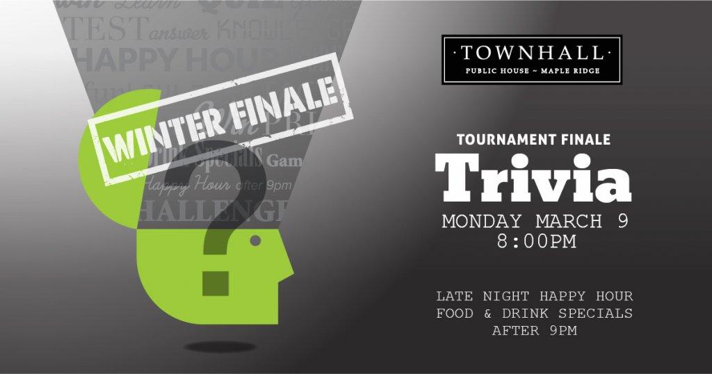 Trivia Tournament Winter Finale