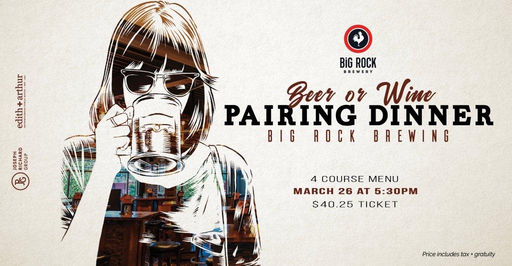 Big Rock Pairing Dinner