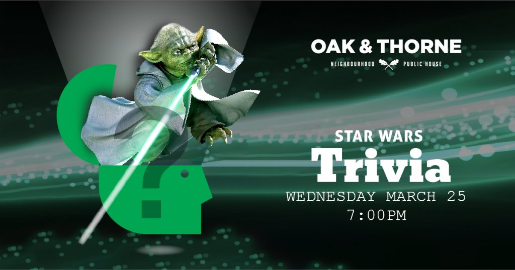 Star Wars Trivia Oak & Thorne