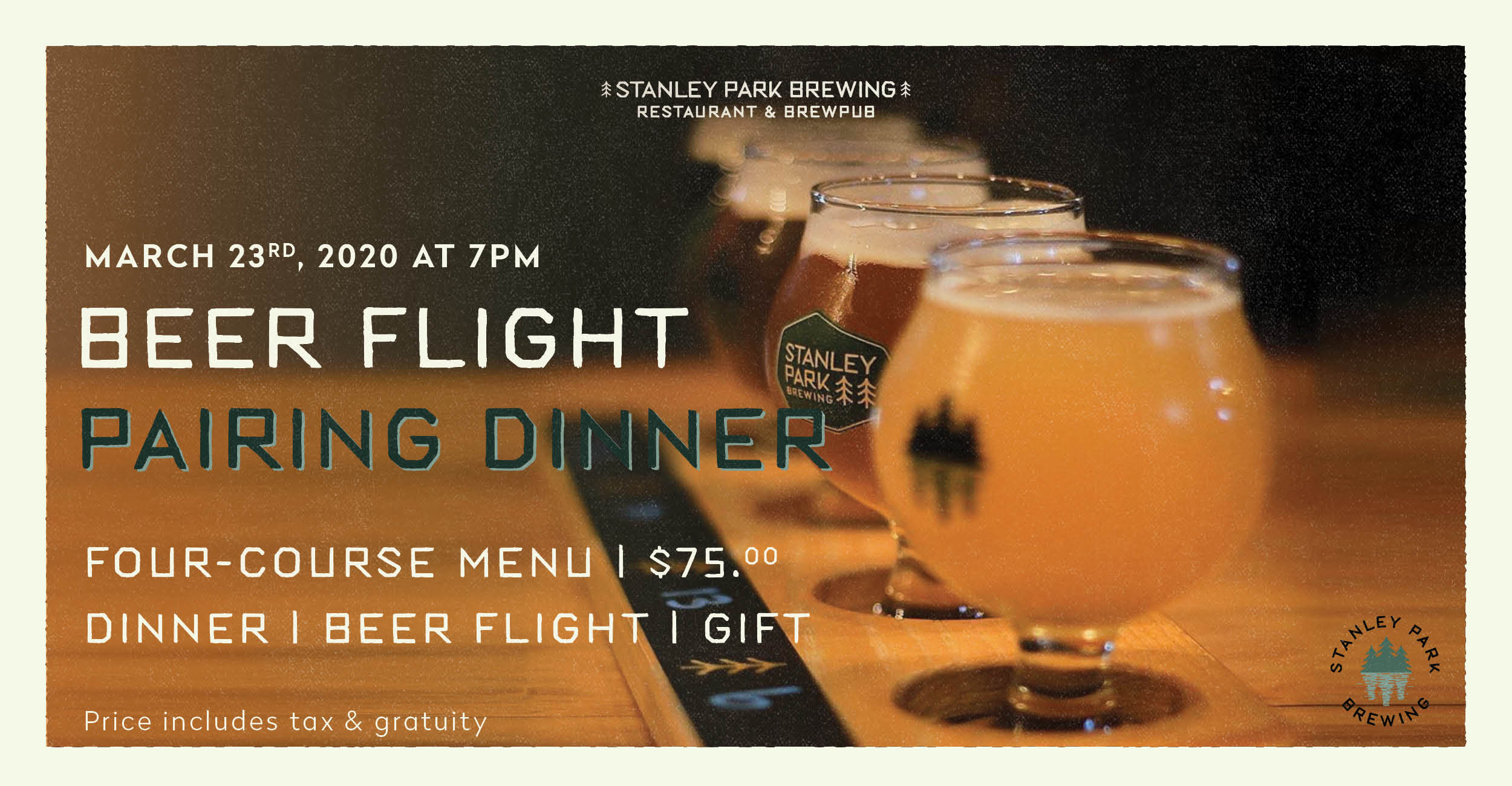 Beer Flight Pairing Dinner