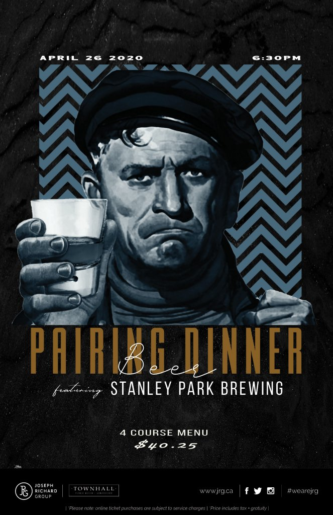 Stanley Park Brewing Pairing Dinner at Townhall Abbotsford