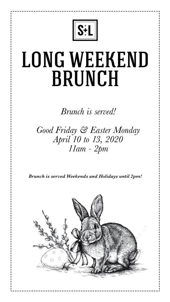 Good Friday & Easter Monday Brunch s+l