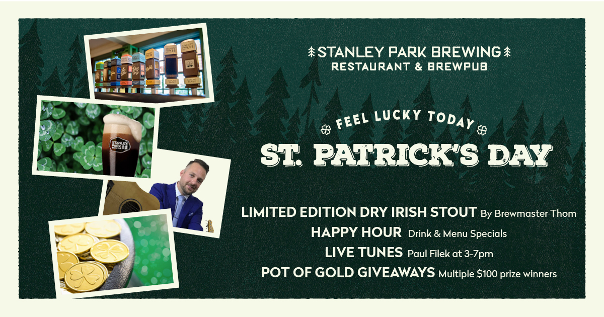 St. Patrick's Day at Stanley Park Brewing