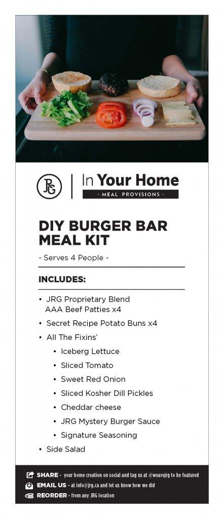 DIY Burger Meal KIt