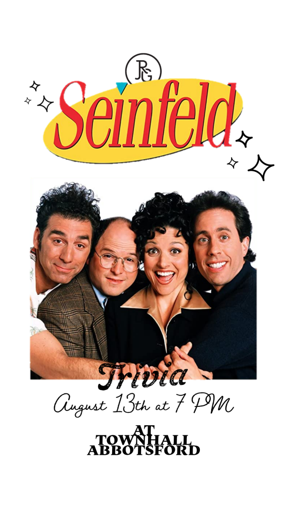 Townhall Public House Abbotsford Seinfeld Trivia