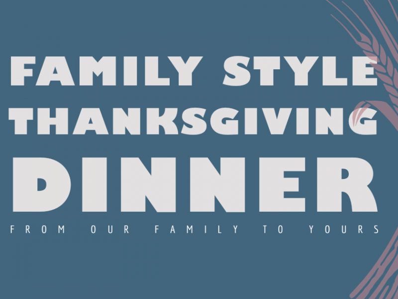 Family Style Thanksgiving Dinner In Your Home