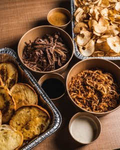 Beef Dip Ready TO Eat Family Meal Kit